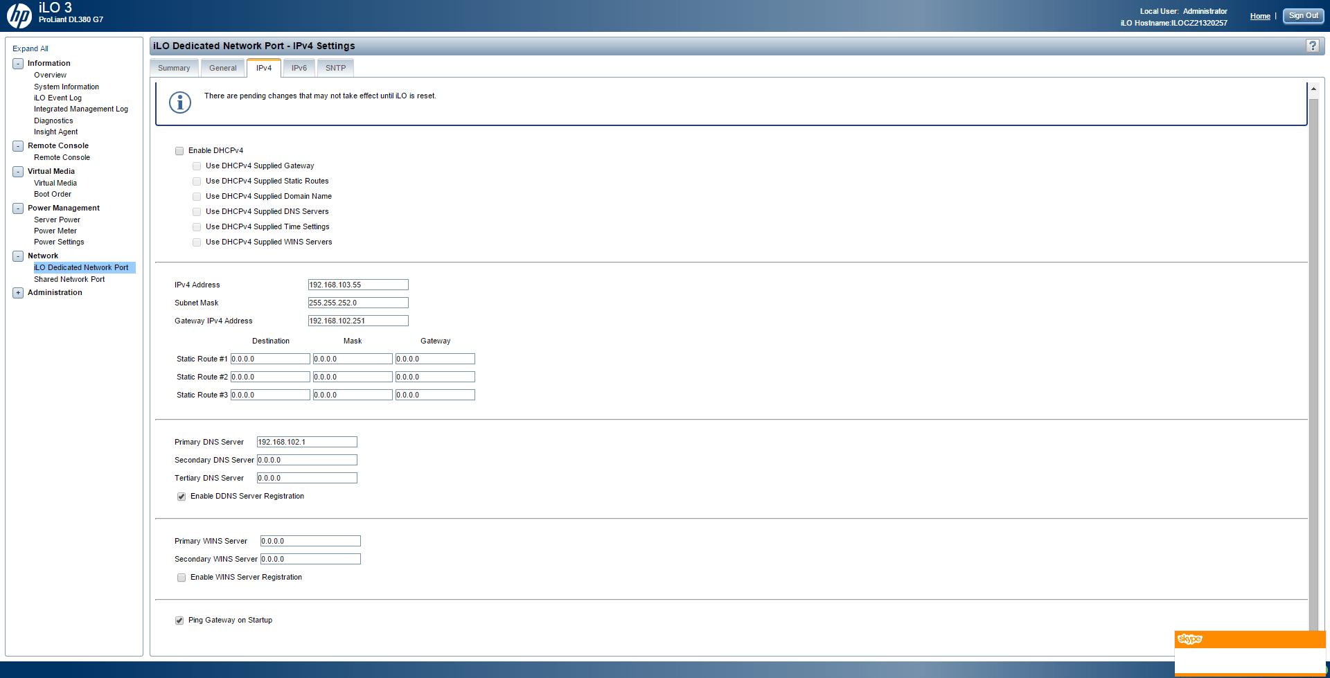 Обзор параметров ILO 3 в HP dl380 g7-20