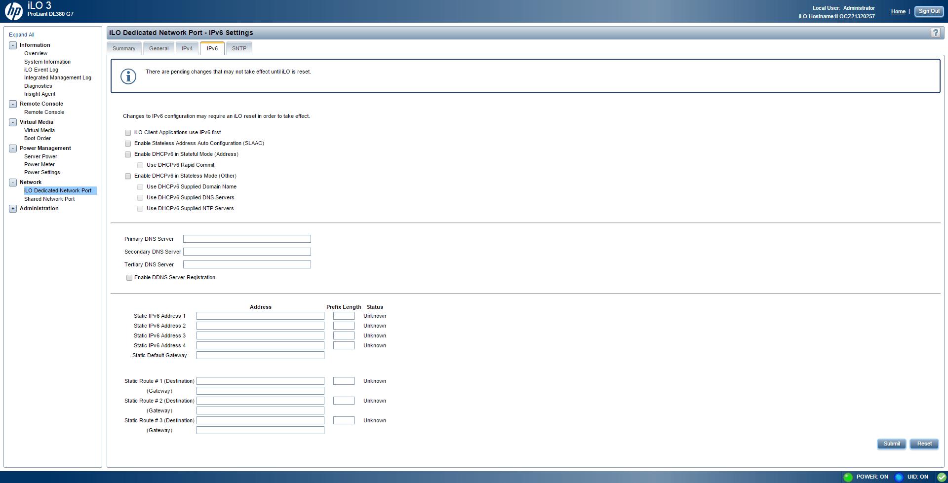 Обзор параметров ILO 3 в HP dl380 g7-21