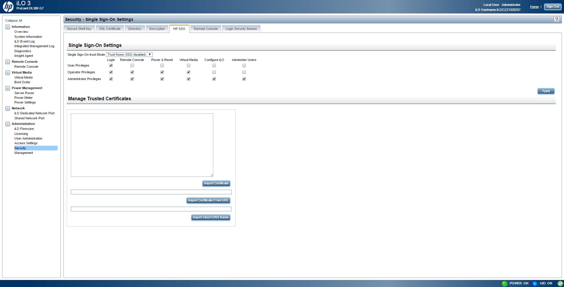 Обзор параметров ILO 3 в HP dl380 g7-27
