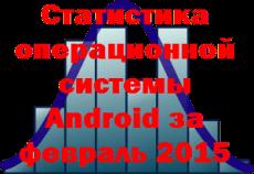 Статистика операционной системы Android за февраль 2015