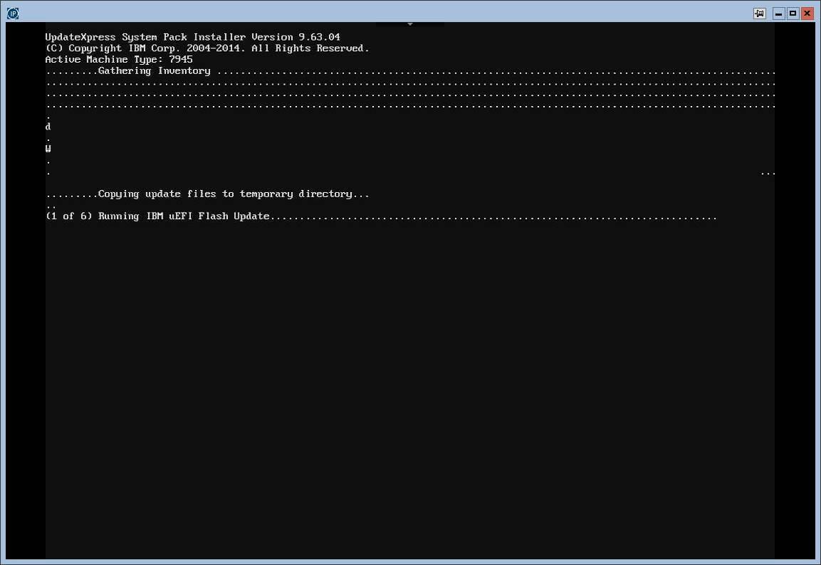 Загрузка с диска автоматического обновления прошивок в IBM серверах.-08