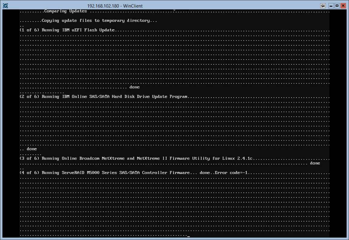 Загрузка с диска автоматического обновления прошивок в IBM серверах.-09