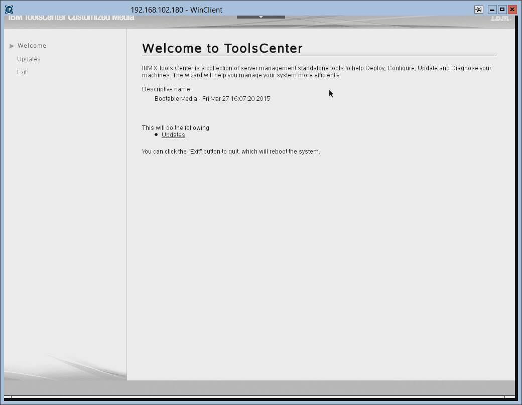 Загрузка с диска автоматического обновления прошивок в IBM серверах.-11
