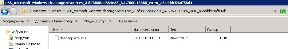 Как добавить утилиту очистка диска в Windows Server 2008 R2-03
