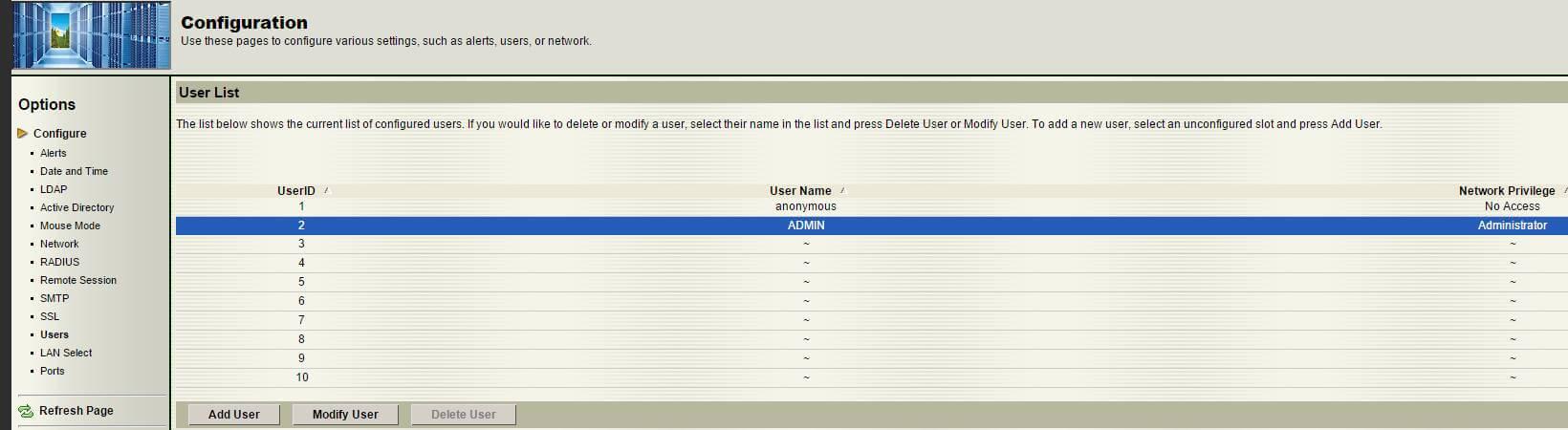 Как изменить пароль учетной записи на Supermicro через web интерфейс-01