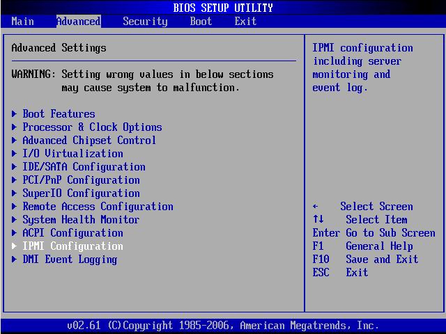 Как настроить IPMI на серверах Supermicro в BIOS-01