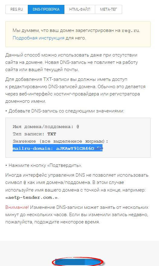 Как настроить почту mai.ru для бизнеса на reg.ru-05