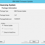 Как обновить IBM IMM Firmware в Windows