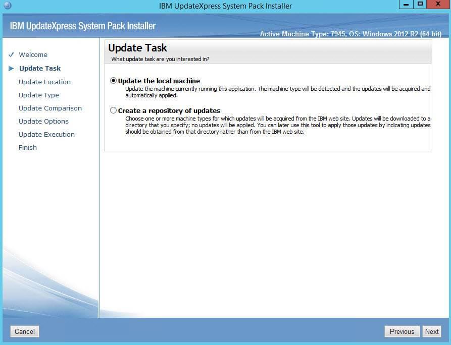Как обновить все прошивки на IBM сервере из локального репозитория-02