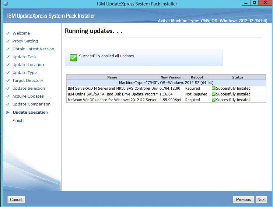 Как обновить все прошивки на IBM сервере в Windows-18