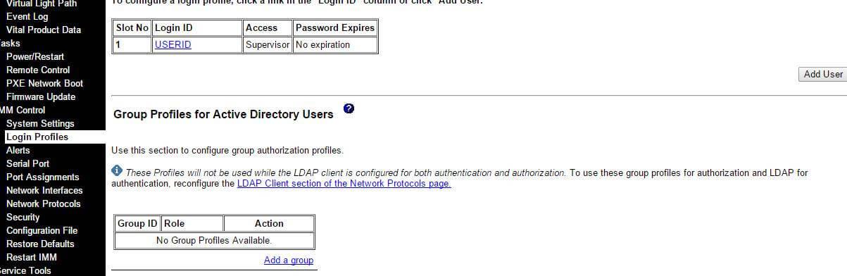Как поменять пароль в Integrated Management Module (IMM)-01