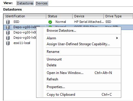Как расширить lun в ESXI 5.5-02