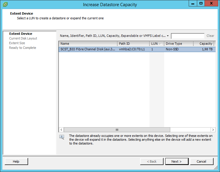 Как расширить lun в ESXI 5.5-04