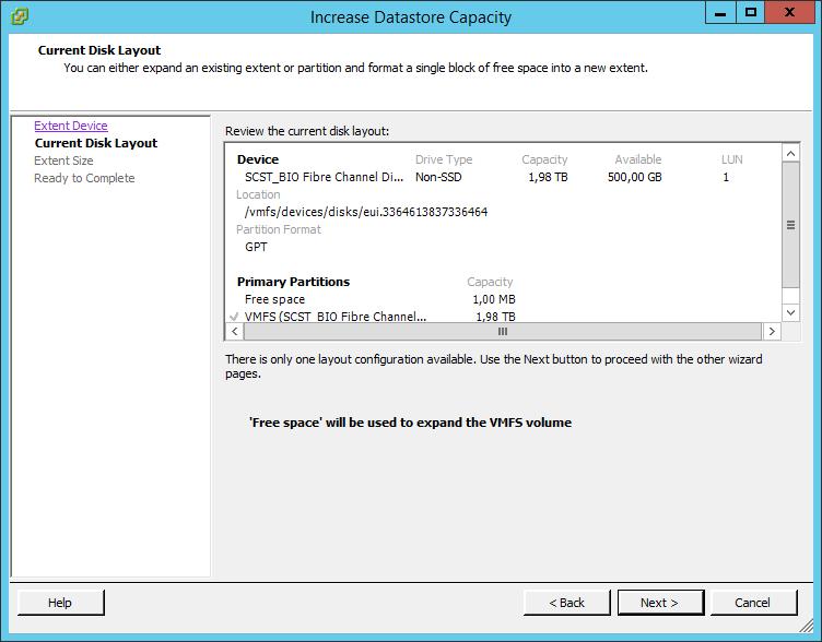 Как расширить lun в ESXI 5.5-05