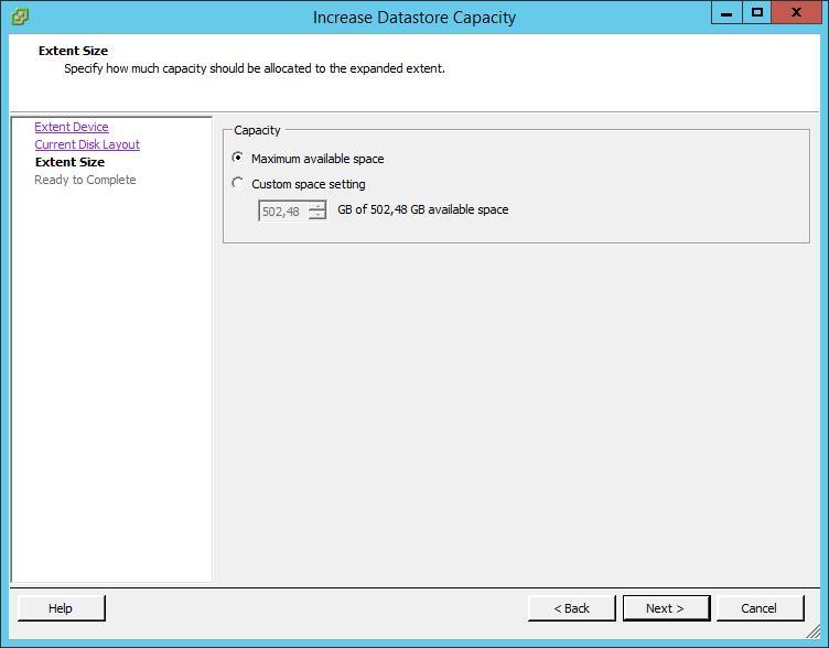 Как расширить lun в ESXI 5.5-06