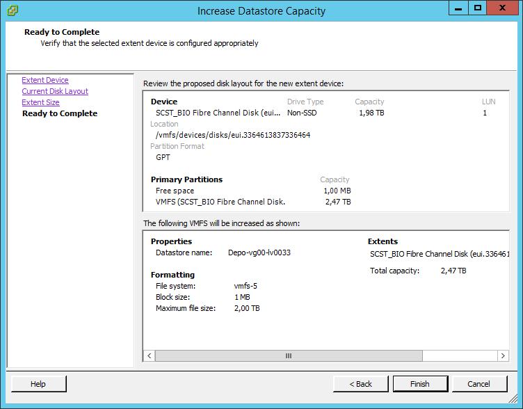Как расширить lun в ESXI 5.5-07