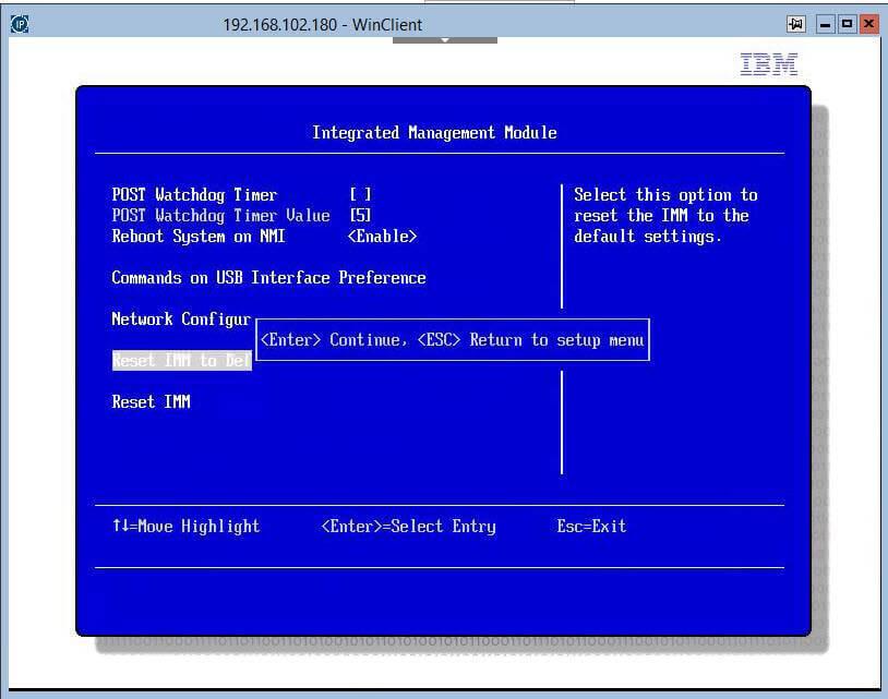 Как сбросить настройки Integrated Management Module (IMM)-01