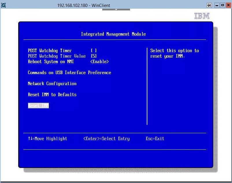 Как сбросить настройки Integrated Management Module (IMM)-02