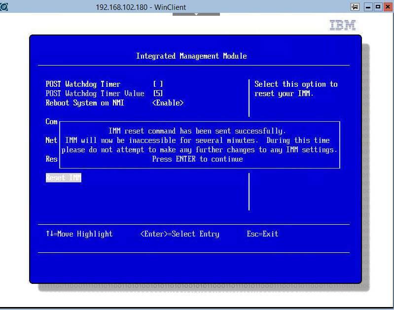 Как сбросить настройки Integrated Management Module (IMM)-03