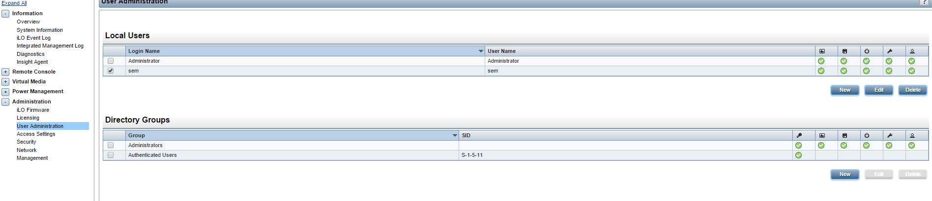 Как сбросить пароль пользователя на HP ILO порту-05