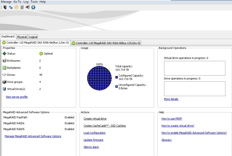Как сохранить конфиг файл на Raid controller LSI-03