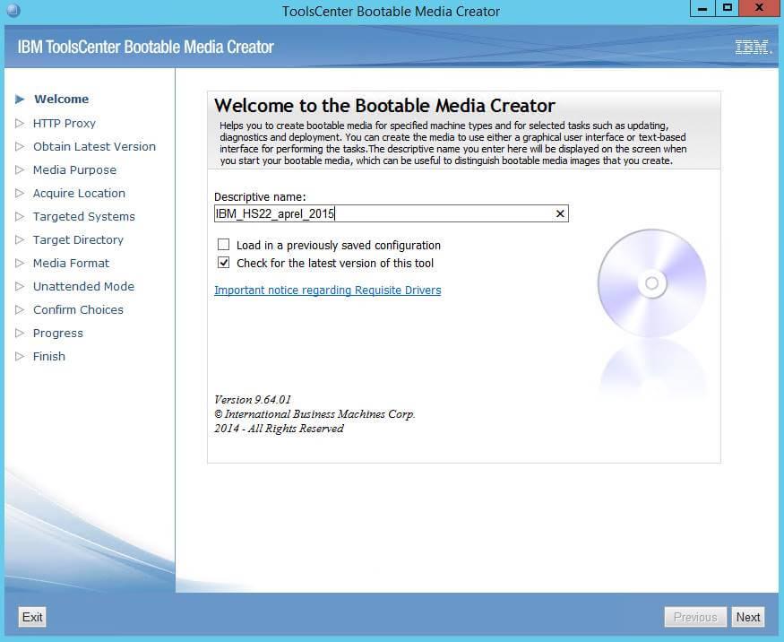 Как создать диск обновления драйверов для IBM сервера из локального репозитория-02