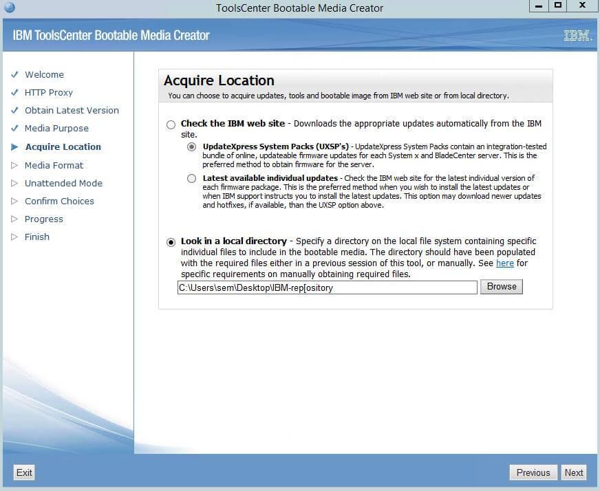 Как создать диск обновления драйверов для IBM сервера из локального репозитория-06
