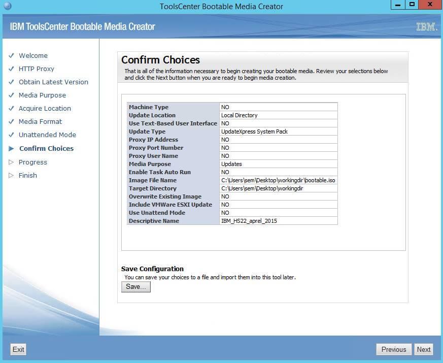Как создать диск обновления драйверов для IBM сервера из локального репозитория-09