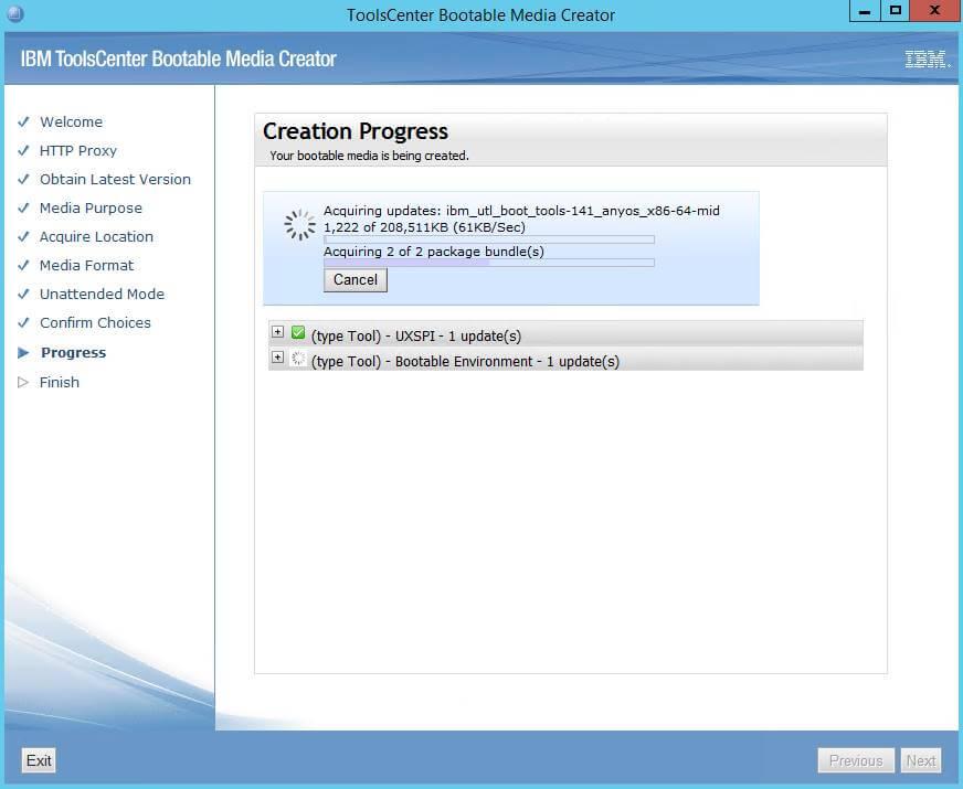 Как создать диск обновления драйверов для IBM сервера из локального репозитория-11