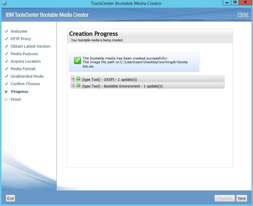 Как создать диск обновления драйверов для IBM сервера из локального репозитория-12