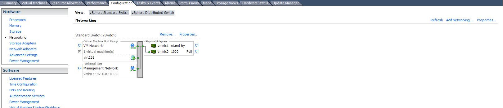 Как создать vSphere Standard Switch в vCenter 5.5-01