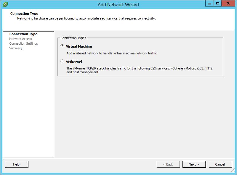 Как создать vSphere Standard Switch в vCenter 5.5-02