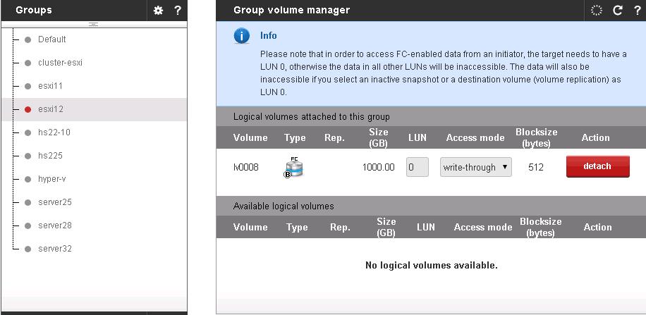 Как создать volume в Open-E 7 и отдать его ESXI 5.5-07