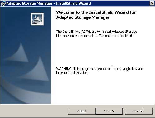 Как установить adaptec storage manager-07