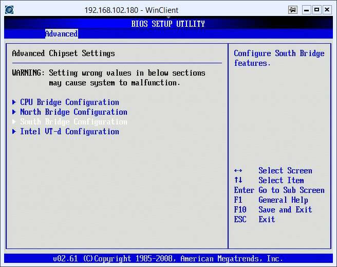 Как включить поддержку виртуализации на сервере Asus Z8NR-D12-6