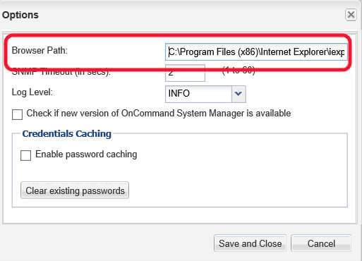 Как задать браузер в NetApp OnCommand System Manager-02