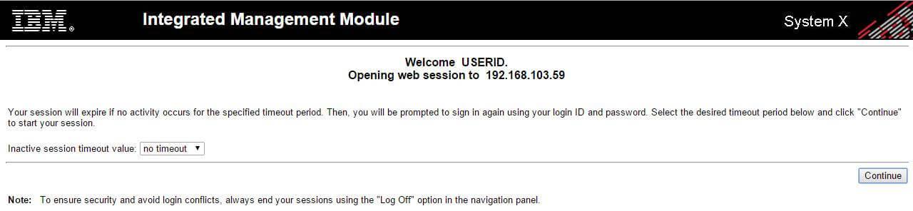Логин и пароль по умолчанию в Integrated Management Module (IMM)-02