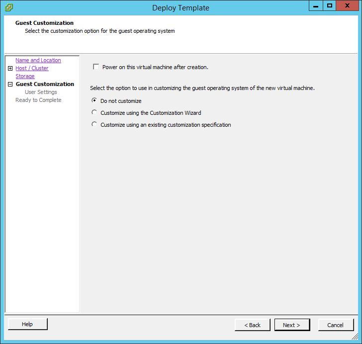 Неактивна команда Convert to Virtual Machine в vCenter 5.5-06