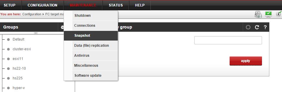 Ошибка Open-e в веб интерфейсе не работаю кнопки действий-02