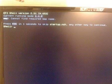 Ошибка cannot find required map name при прошивке Intel сервера