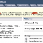 Ошибка cannot synchronize host cannot contact the specified host в ESXI 5.5