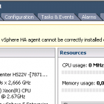 Ошибка vsphere ha agent for this host has an error vsphere ha agent cannot be correctly installed в ESXI 5.5