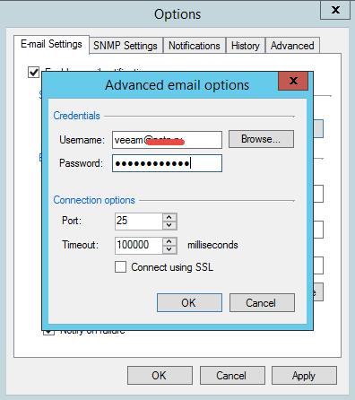 Как настроить оповещение по почте в Veeam Backup & Replication 7-03