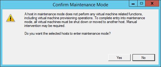 Как перевести хост ESXI 5.5 в режим обслуживания (maintenance mode)2