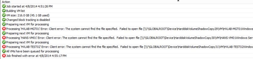 Ошибка Failed to open file GLOBALROOT в Veeam Backup Replication 7-01