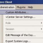 Как добавить свой атрибут виртуальной машины в ESXI 5.5 через VMware vSphere Client