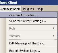 Как добавить свой атрибут виртуальной машины в ESXI 5.5 через VMware vSphere Client-01