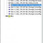Как изменить статус диска Foreign на Unconfigured Good на контроллере LSI