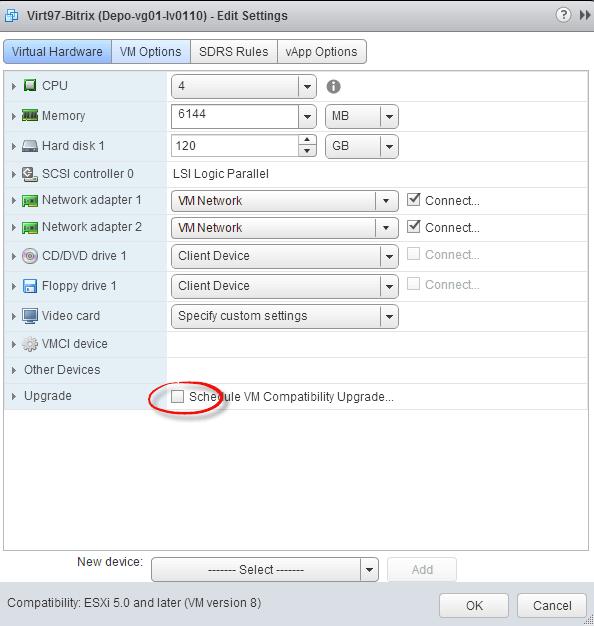 Как обновить версию виртуальной машины ESXI 5.5-Как обновить VM Version ESXI 5.5-06