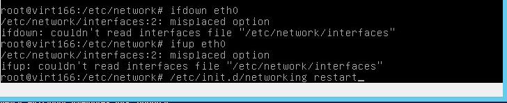 Ошибка couldn't read interfaces file etc-network-interfaces в Debian 8